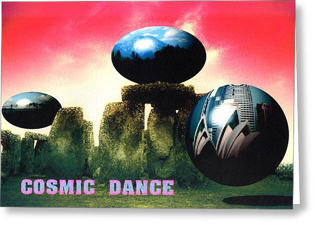 Cosmic Dance Greeting Card