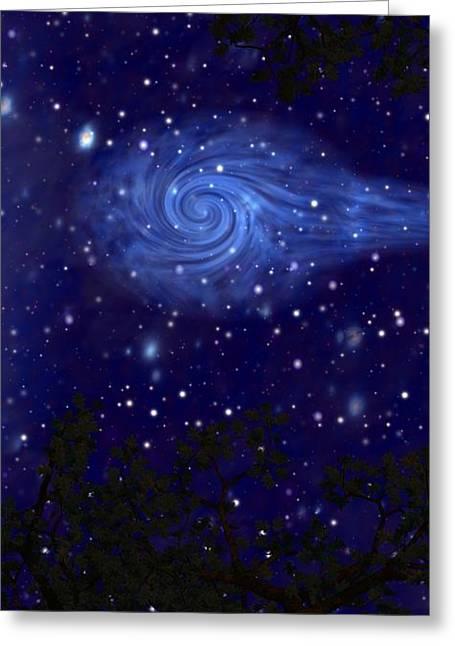 Cosmic Messenger Greeting Card by Diana Morningstar