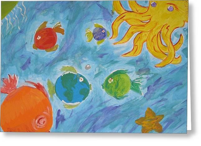 Cosmic Ocean Greeting Card