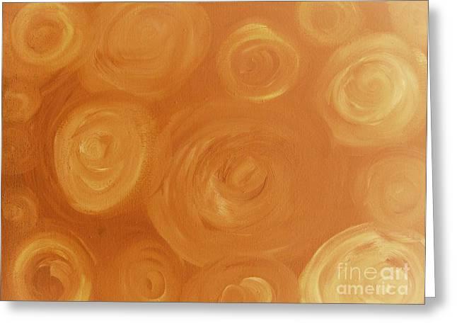 Cosmic Swirls Beige Greeting Card by Jeannie Atwater Jordan Allen