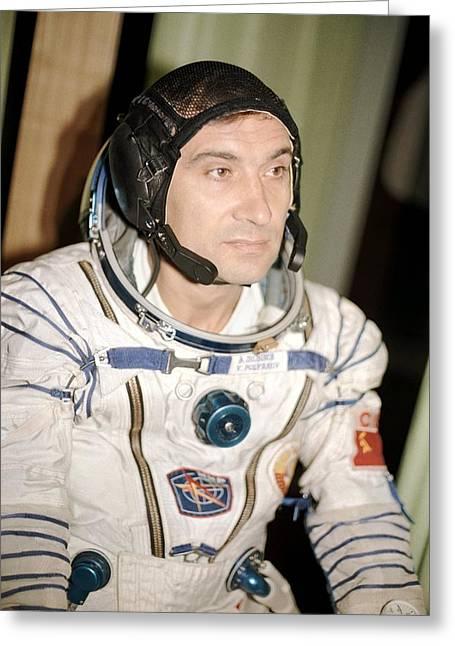 Cosmonaut Valery Polyakov Greeting Card by Ria Novosti