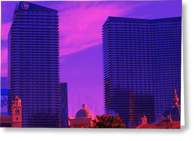 Greeting Card featuring the photograph Cosmopolitan Sunset by Linda Edgecomb