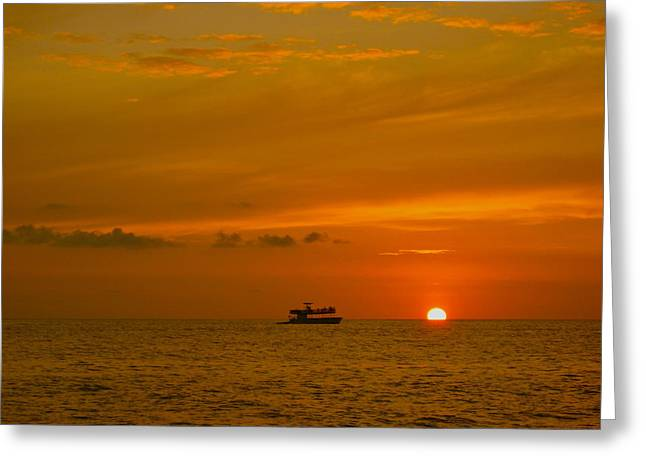 Greeting Card featuring the photograph Costa Rica Sunset by Eric Tressler