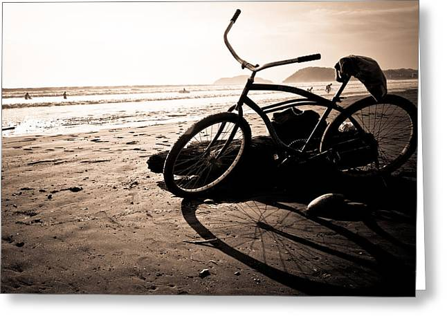 Costa Rican Beach Cruiser Greeting Card by Anthony Doudt