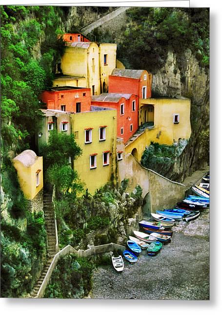 Costeria Amalfitano Greeting Card by John Galbo