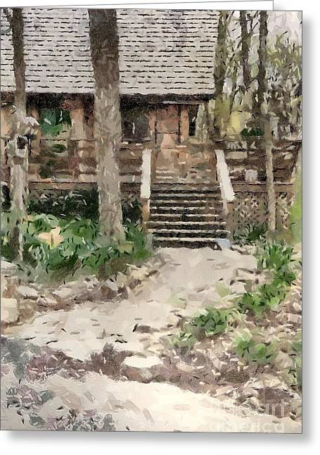 Cottage Greeting Card by Anne Kitzman