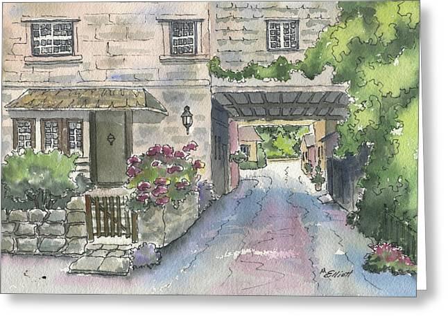 Cottage For Ann Greeting Card by Marsha Elliott