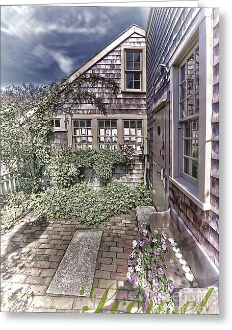 Greeting Card featuring the photograph Cottage Garden - 'sconset Nantucket by Jack Torcello