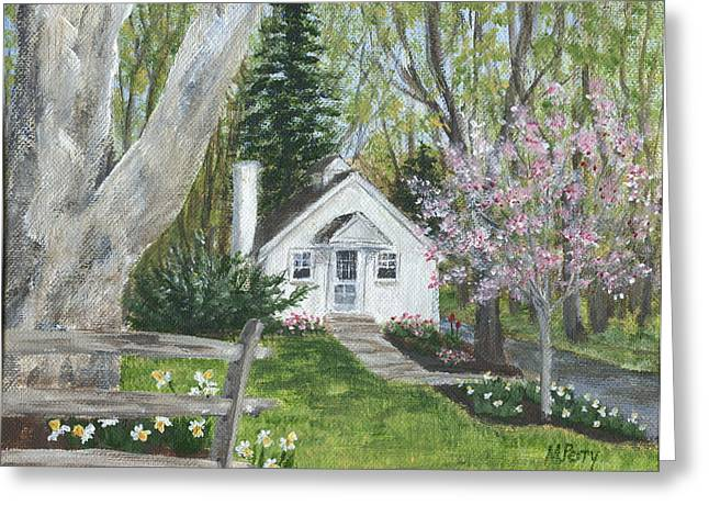 Cottage In Spring Greeting Card