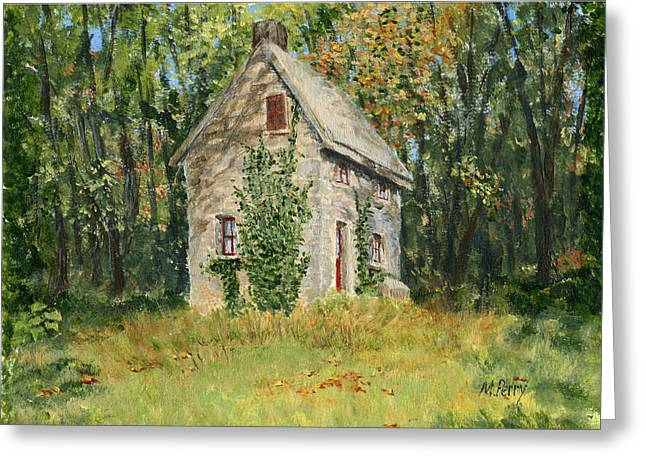 Cottage In The Woods At Fonthill Greeting Card
