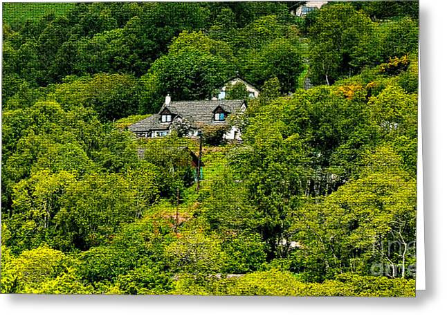Cottage In The Woods Greeting Card by Pravine Chester