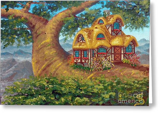 Cottage On A Branch From Arboregal Greeting Card
