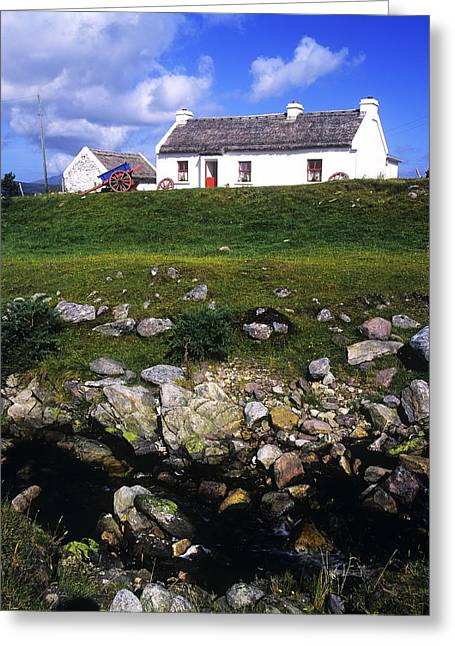 Cottage On Achill Island, County Mayo Greeting Card by The Irish Image Collection