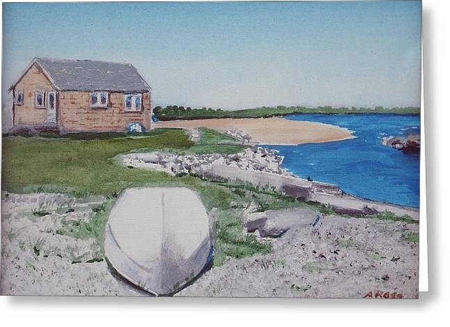 Cottage On The Marsh Greeting Card by Anthony Ross