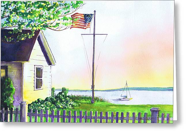Cottage Orient Ny Greeting Card