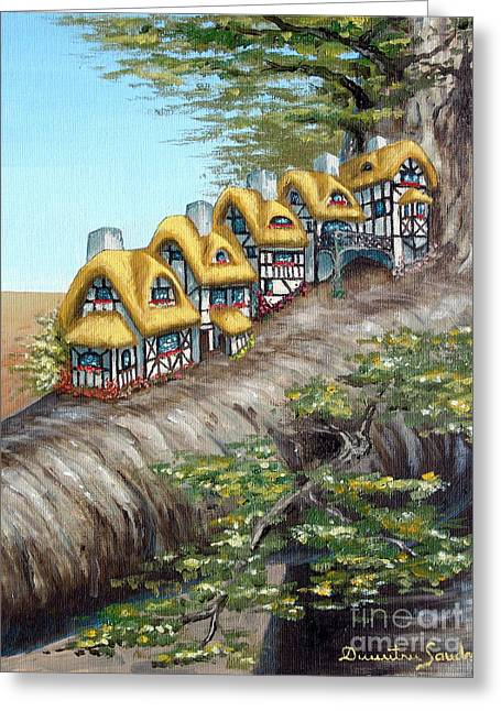 Cottage Row From Arboregal Greeting Card