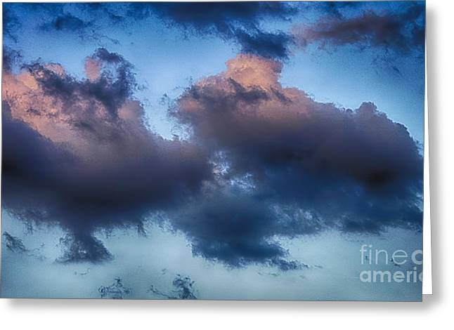 Cotton Candy Sunset Greeting Card by Jeremy Linot