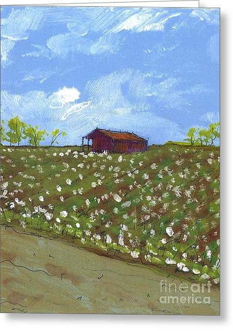 Cotton Field Two Greeting Card