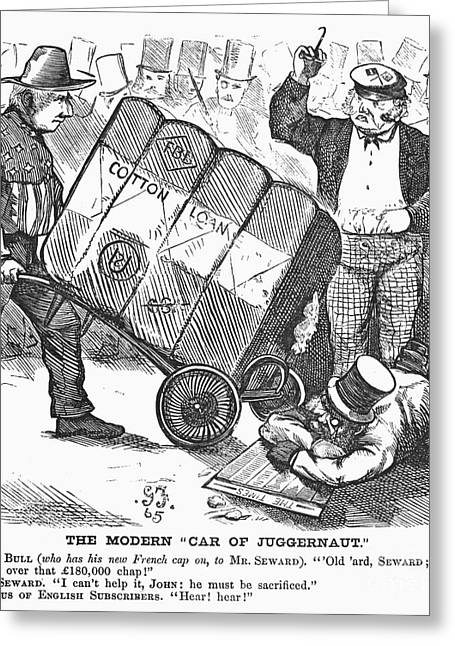 Cotton Loan Cartoon, 1865 Greeting Card by Granger