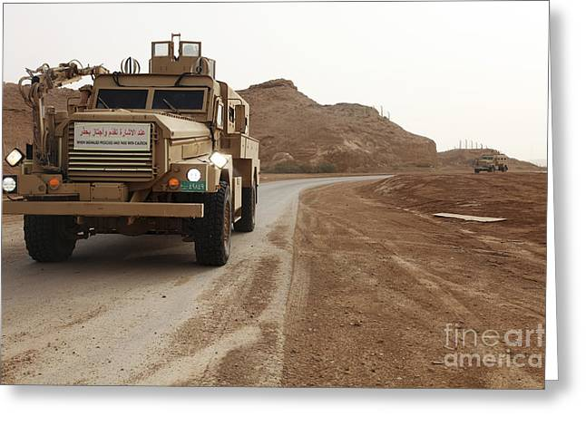 Cougar Armored Fighting Vehicles Greeting Card by Stocktrek Images