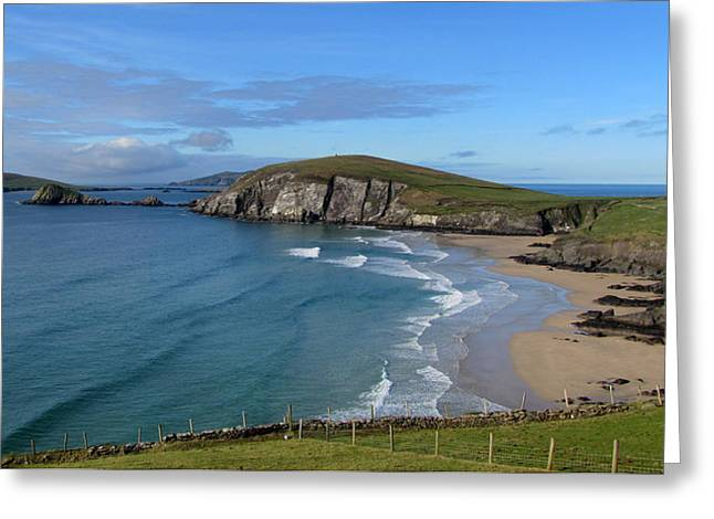 Greeting Card featuring the photograph Coumeenole Beach by Barbara Walsh