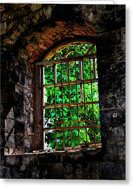 Count Of Monte Cristo Dungeon Window Greeting Card by Enrique Rueda
