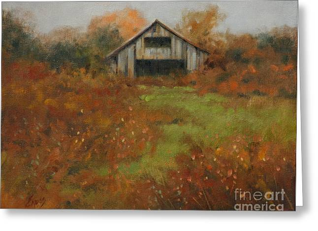 Country Autumn Greeting Card by Linda Eades Blackburn