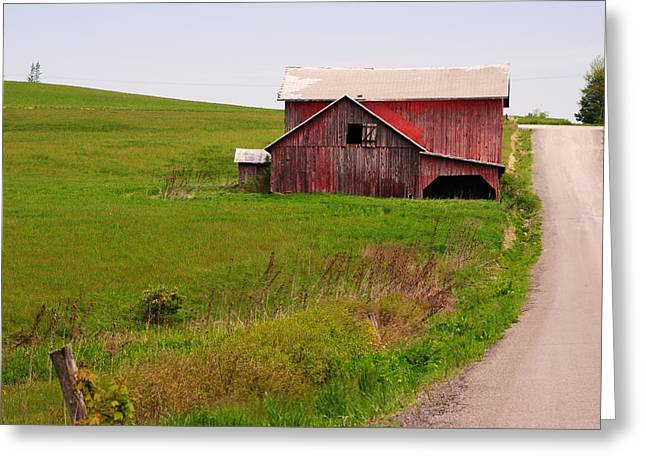 Country Barn Greeting Card by April  Robert