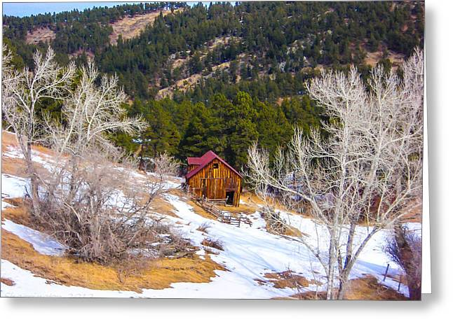 Greeting Card featuring the photograph Country Barn by Shannon Harrington