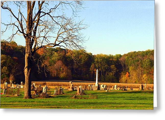 Country Cemetery Greeting Card by Mike Stanfield