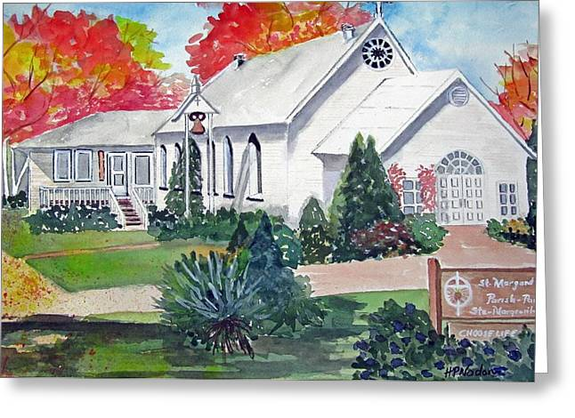 Country Church Greeting Card by Heidi Patricio-Nadon