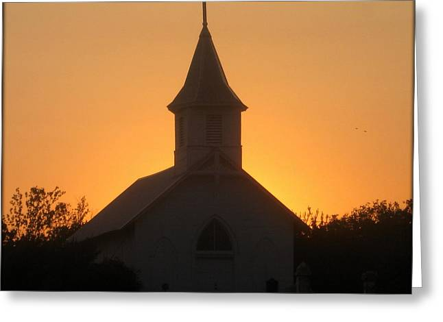 Country Church Greeting Card by Kim Yarbrough