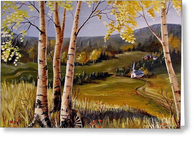 Country Church Greeting Card by Marilyn Smith
