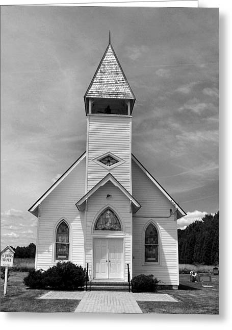Country Church Greeting Card by Steven Ainsworth