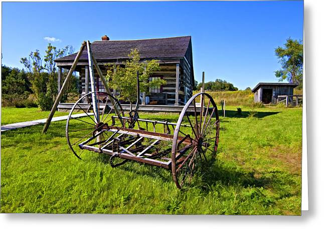 Country Classic Paint Filter Greeting Card by Steve Harrington