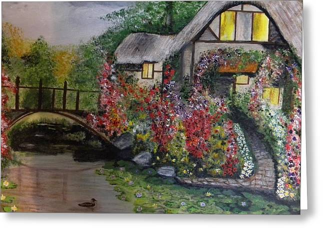 Country Cottage Retreat Greeting Card