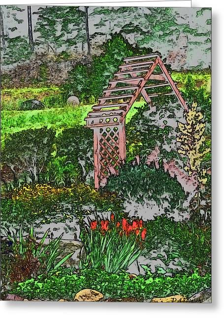 Country Gardens Greeting Card by Debra     Vatalaro
