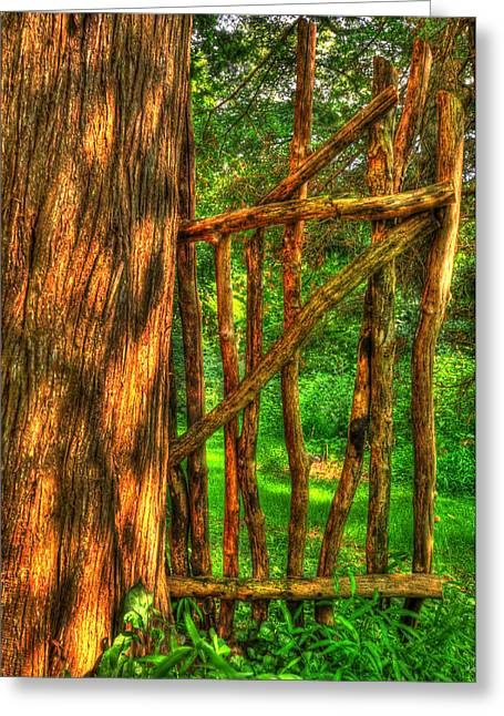 Country Gate Greeting Card by Paul Ward