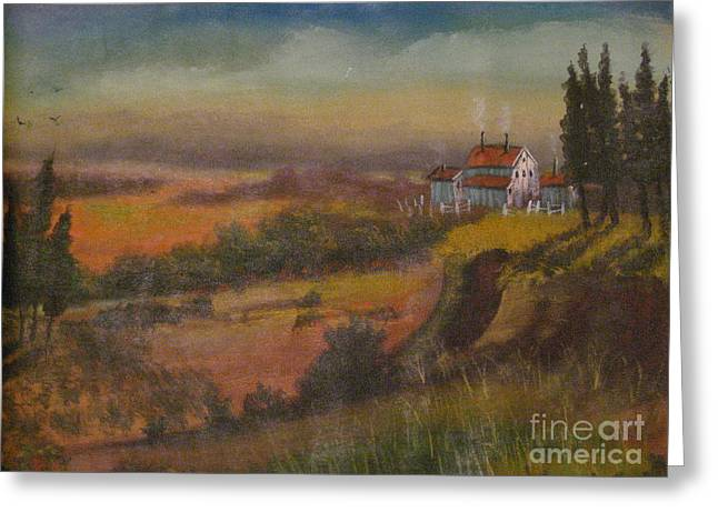 Country House Rendition Greeting Card by Dwayne Goulbourne