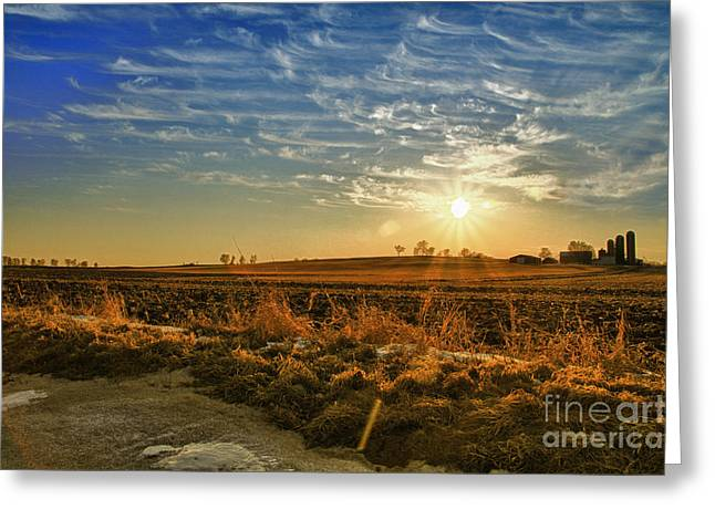 Country Light Greeting Card by Joel Witmeyer