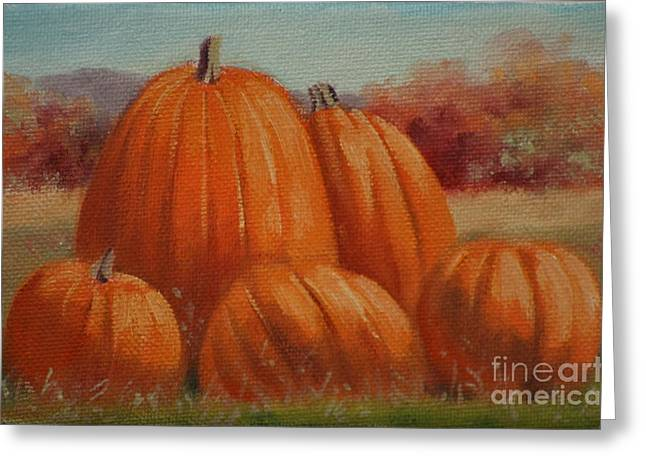 Country Pumpkins Greeting Card