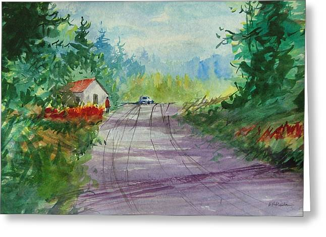 Country Road I Greeting Card