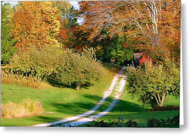 Country Road Take Me Home Greeting Card by Kristin Elmquist