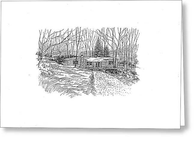 Country Scene 1 Greeting Card