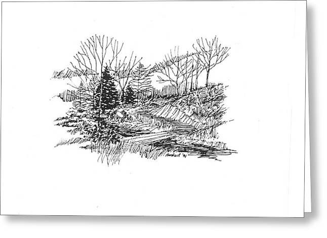 Country Scene 3 Greeting Card