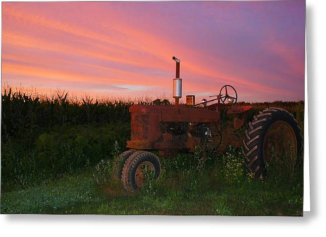 Country Sunset Greeting Card by Corrie McDermott