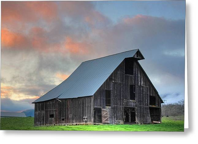 Greeting Card featuring the photograph Country Sunset by Tyra  OBryant