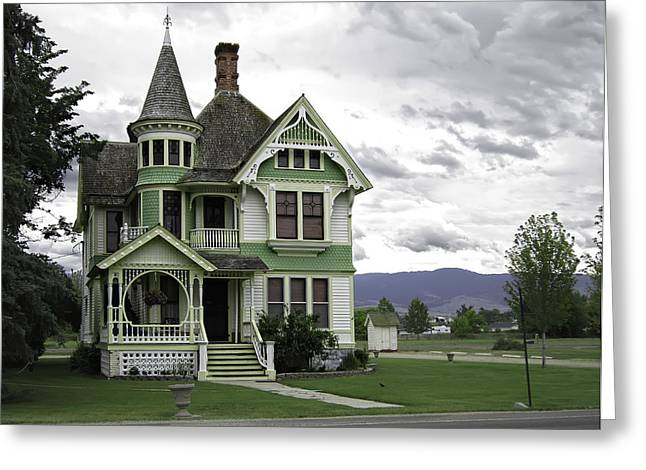 Country Victorian - Hamilton Montana Greeting Card by Daniel Hagerman