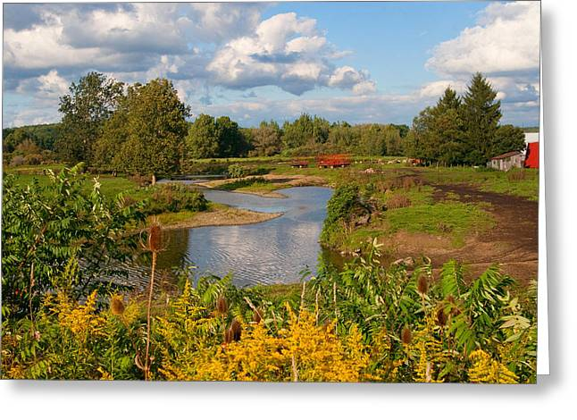 Greeting Card featuring the photograph Countryside by Cindy Haggerty