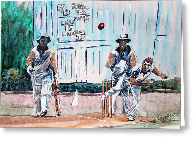 County Cricket Greeting Card